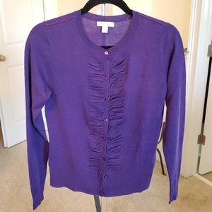 Ruched purple cardigan